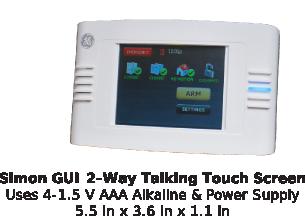 simon gui 2-way talking touch screen